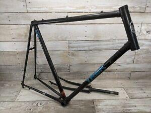 1980s Trek 330 61 Cm Road Bike Frame Fork Black Blue Decals Vintage Road Bike