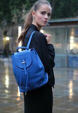 NWT meli melo Thela Large Halo Backpack Top Handle Leather Bag Electric Blue