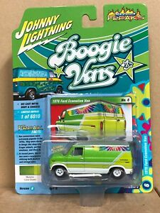 Johnny Lightning Boogie Vans 1976 Ford Econoline Van 2021 Release 2B