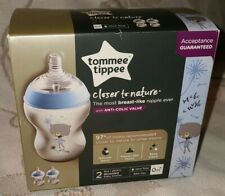 New listing Tommy Tippee 2 - 9oz Bottles Bpa Free Slow Flow Anti Colic Valve Easy Clean New