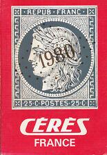 """Catalogue CÉRÈS """"Timbres-poste de France"""" - 1980"""