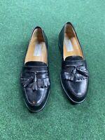 Mezlan Santander Tassel Loafers Mens Size 9 Black Leather Dress Shoes nice!