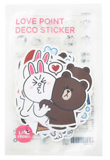 [Line Friends]Brown Love Stickers Set Character Decor DIY Accessary Luggage