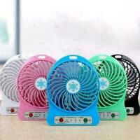 Portable Mini Fan Adjustable 3 Speed USB Rechargeable Office Student F O8D4