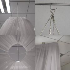 Silver 10 x 20 ft Professional Sheer CEILING CURTAIN Drapes Party Decorations