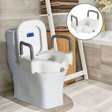 Elevador para WC Asiento de Inodoro Elevado con Reposabrazos y Fijación HDPE