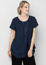 LADIES NAVY TUNIC TOP SIZE 16 NEW WITH TAG