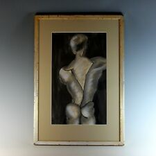1961 Ink and Charcoal Drawing of a Dancer Signed and Dated