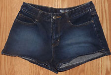 ANGELS JUNIORS SIZE 3 SEXY SHORT SHORTS WOMENS LOW RISE DARK BLUE JEAN SHORTS