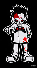 *BLOODY* Zombie Kid Boy Teen Son Family Car Decal Sticker  +  **FREE DECAL**