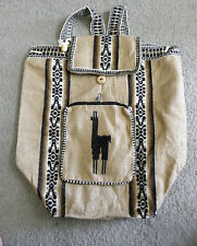 Brand New Made In Peru Alpaca Wool Rustic Large Light Weight Backpack #16