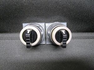 Square D 9001 KS-43B 3 Position Selector Switch, Lot of (2)