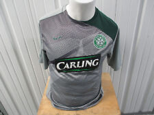 VINTAGE NIKE CELTIC F.C. FOOTBALL SOCCER GREY SMALL PRACTICE JERSEY 2010 KIT