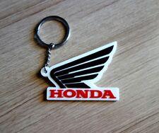 HONDA wing Logo Black White Keychain Keyring Rubber Motorcycle Bike Car New Gift