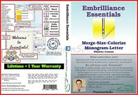Embrilliance Essentials Embroidery For Windows ⭐ Full Version ⭐ +1 Year Warranty