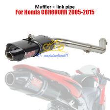 Motorcycle Carbon Fiber Exhaust Muffler Link Pipe For Honda CBR600RR 2005-2015