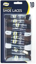 10pc Noir Marron Blanc Lacet de Chaussure Baskets Baskets 60 cm 75 cm 90 cm 110 cm 150 cm