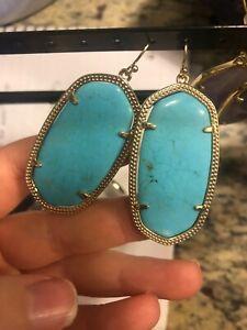 KENDRA SCOTT Blue Turqouise Danielle Drop Earrings