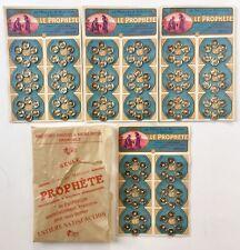 Mercerie 1910, 4 plaques de boutons pression Le Prophète, diam: 1,1cm, blanc