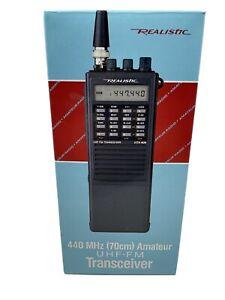 Radio Shack Realistic HTX-404/440 MHZ 70cm HAM Radio,  UHF FM Transceiver