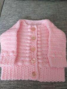 New Hand Crocheted 6mth Cardigan