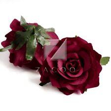 5pcs Artificial Flower Heads Rose Bridal Wedding Party Bouquets 10cm 18 Colors