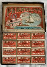 Vintage box of Perry & Co GlideAway New Metal Nibs no 404. There are 12 small bo
