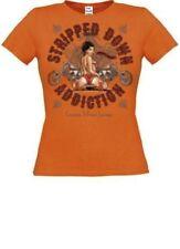T-shirt, maglie e camicie da donna arancione in cotone con girocollo