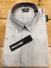 "REMUS Uomo Jeans Button Flower Insert Collar Chambray Shirt - 16"" (slim Fit)"