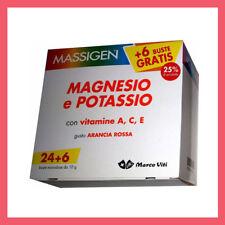10 X Massigen magnesio e potassio   VITAMINE A C E 240 BUSTINE +60 OMAGGIO!
