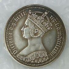 INGHILTERRA UK REGNO UNITO * 1 Florin 1877 Ag Victoria Gothic type RIPRODUZIONE!