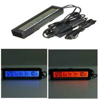 3in1 12-24V Digital LCD Clock Car Voltmeter Thermometer Voltage Meter Monitor