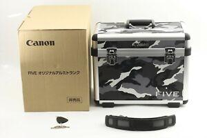 【 BOXED UNUSED 】 RARE!! Canon FIVE Camera Hard Case Trunk CAMO from JAPAN #1043