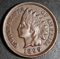 1899 INDIAN HEAD CENT -With LIBERTY & DIAMONDS - XF EF