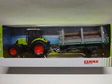 Herpa 84184016 CLAAS ARION 540 Traktor mit Holzanhänger Tecker 1:32 Neu