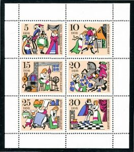 1323-28 DDR Kleinbogen ** König Drosselbart 1967