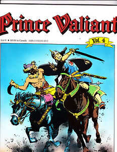 "Prince Valiant Vol 4-1988-Strip Reprints Soft Cover-"" Menace Of Hun -1st Print """