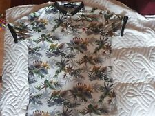 Mens polo flowers t shirt dsquared size XxL