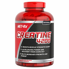 MET-RX CREATINE 4200 240 GELCAPS MUSCLE GAINS PERFORMANCE RECOVERY SUPPLEMENT