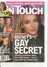 IN TOUCH FEB 2007 BRITNEY SPEARS SCARLETT LINDSAY LOHAN NABS MARILYN MONROE HOME