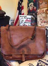 Vintage WWII US NAVY USPS Bona Allen 1944's Mail Postal Leather Messengers Bag.