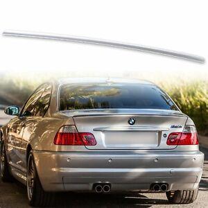Painted Fyralip Trunk Lip Spoiler For BMW E46 Coupe M3 Titan Silver Metallic 354