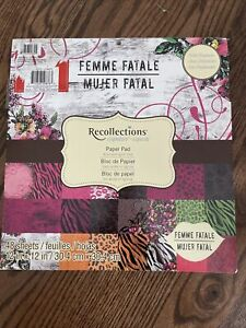 """Recollections DCWV Paper Pad 12""""X12"""" 48/SS Pkg """"Femme Fatale"""" With treatments"""