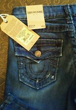 True Religion Becca Mid Rise Denim Bootcut Jean Color Inky Sea Size 23 NWT $328