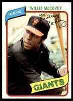 1980 TOPPS WILLIE MCCOVEY SAN FRANCISCO GIANTS #335