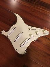 Fender Strat Stratcaster Tex Mex Hot Alnico Pickups Loaded Aged White Pickguard