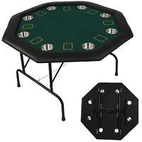 "VILOBOS 48"" Folding Poker Table Foldable 8 Player Casino Texas Holdem Party Desk"