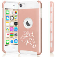 For iPod Touch 5th 6th Hard Aluminum Silicone Case Cover Princess with Crown