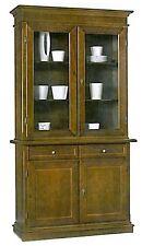 Cristalliera 2 ante, cassetti,in arte povera, legno massello, credenza,mobile