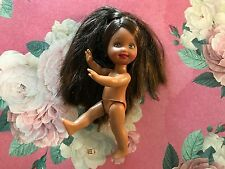 BARBIE'S SISTER  KELLY DOLL NUDE AFRICAN AMERICAN / HISPANIC BRUNETTE PONY TAIL
